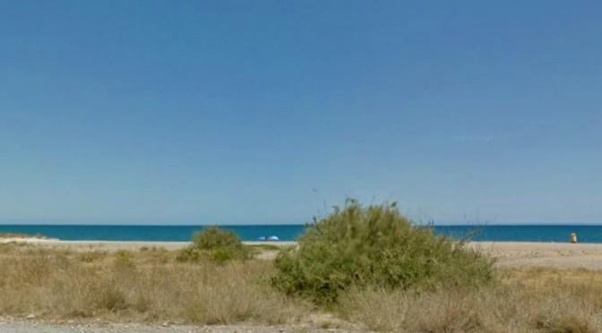 Suelo en la playa entre Puzol y El Puig.